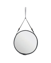 Adnet Mirror - Round - Leather - Curio Cavern