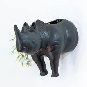 Rhino Wall Planter Head and Tail - Curio Cavern