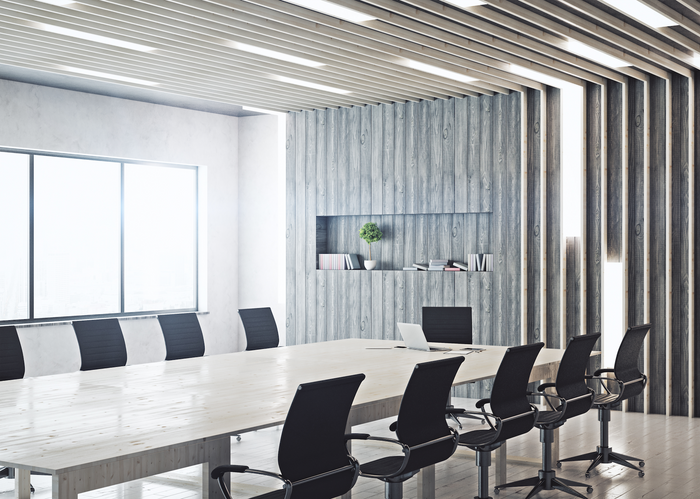 Business boardroom with chairs in office