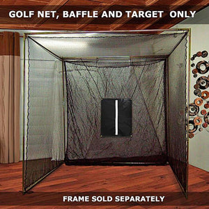 The 'Masters' Series Of Golf Practice Cages By Cimarron-Golf Equipment-Cimarron-10'x10'x10' DIY Golf Cage Netting (Net Only)-Unique Sports