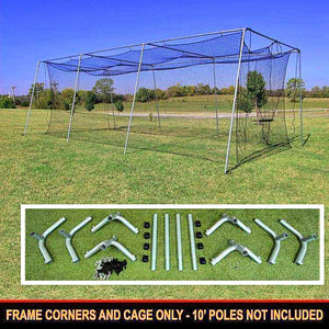#24 Cage Net With 1.5-Inch DIY Frame Corner Kit-Baseball & Softball Equipment-Cimarron-Unique Sports