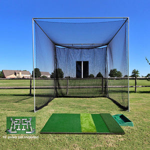 The 'Masters' Series Of Golf Practice Cages By Cimarron-Golf Equipment-Cimarron-Ultimate DIY Golf Cage And Turf Package-Unique Sports