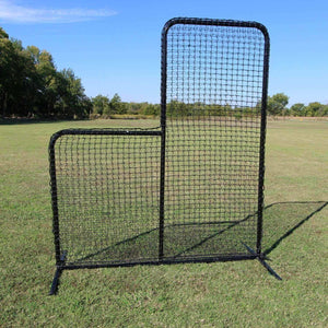 Standard 7'x6' L-Screen With #42 Netting By Cimarron-Baseball & Softball Equipment-Cimarron-Unique Sports