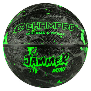 The 'Jammer' B3 Sized Mini Rubber Basketballs By Champro-Basketball Equipment-Champro-Neon Green-Unique Sports