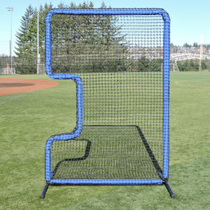 The Protector Blue Series C-Shaped Softball Screen By JUGS-Baseball & Softball Equipment-JUGS-Unique Sports