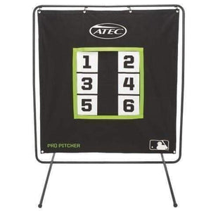 The Pro Pitcher's 6-Zone Practice Screen By ATEC-Baseball & Softball Equipment-ATEC-Pro Pitcher's Screen (With Stand)-Unique Sports