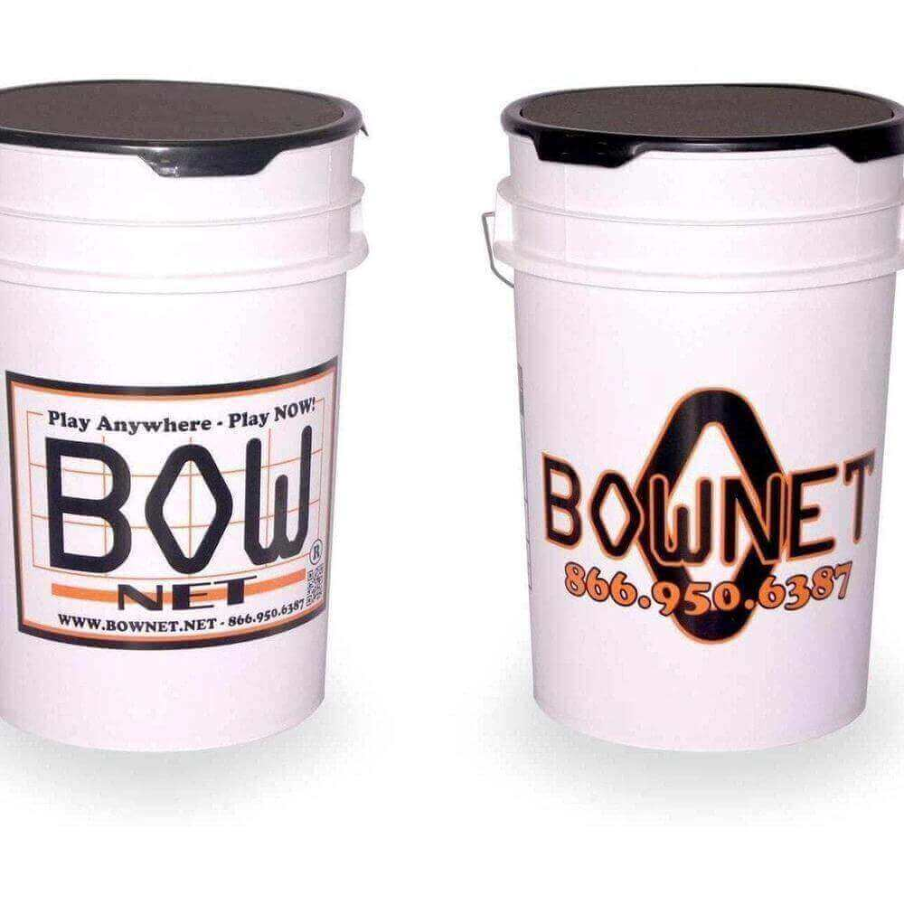 Bownet 6 Gal. Ball Bucket-Ball Caddies, Pouches & Buckets-Bownet-Unique Sports