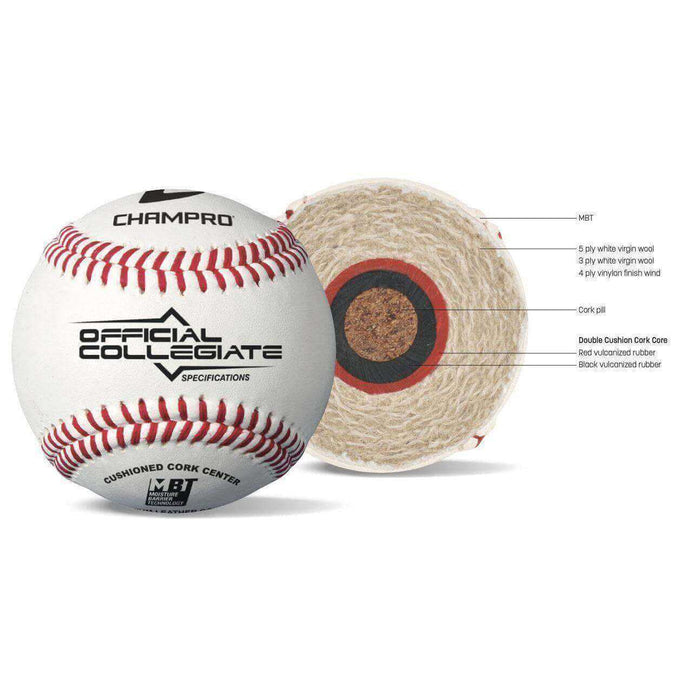 Collegiate Specification Game Baseballs By Champro