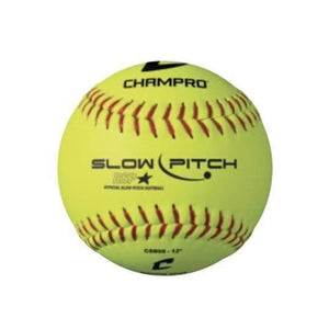 Champro Slow Pitch Practice Softball (1 Dozen)-Baseball & Softball Equipment-Champro-Unique Sports