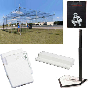 The 'Diamond Deluxe' 33'x32'x12' Cage Bundle By Cimarron-Baseball & Softball Equipment-Cimarron-Unique Sports