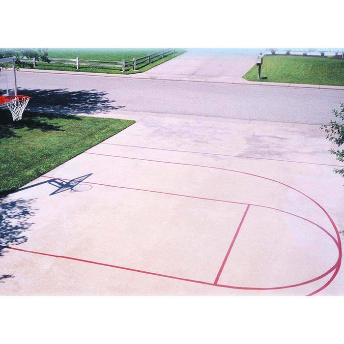 First Team Basketball Stencil Court Accessory