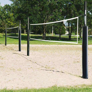 First Team Blast Steel Indoor / Outdoor Volleyball System-Volleyball Equipment-First Team-Sand Blast Complete-Brick Red-Unique Sports