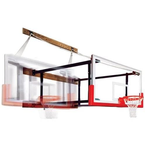 First Team Foldamount 82 Side Folding Wall Mounted Hoop-Basketball Equipment-First Team-Unique Sports