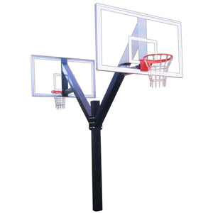 First Team Legend In-Ground Basketball Hoop-Basketball Equipment-First Team-Legend Supreme Dual-Unique Sports