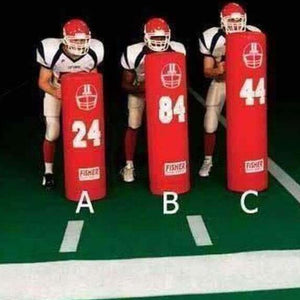 Fisher Athletic 14 Round Stand Up Football Dummy-Football - Blocking Shields & Dummies-Fisher Athletic-Unique Sports