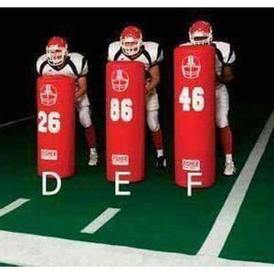 Fisher Athletic 16 Round Stand Up Football Dummy-Football - Blocking Shields & Dummies-Fisher Athletic-Unique Sports