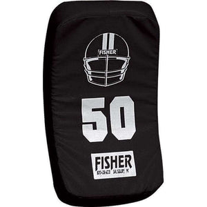 Fisher Athletic Curved Body Shield (HD150)-Football Equipment-Fisher Athletic-Black-Unique Sports