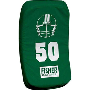 Fisher Athletic Curved Body Shield (HD150)-Football Equipment-Fisher Athletic-Forest Green-Unique Sports