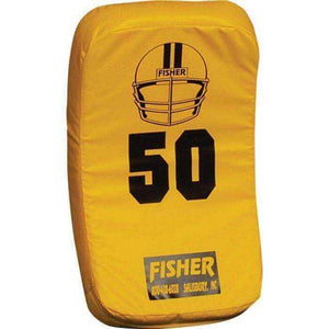Fisher Athletic Curved Body Shield (HD150)-Football Equipment-Fisher Athletic-Gold-Unique Sports