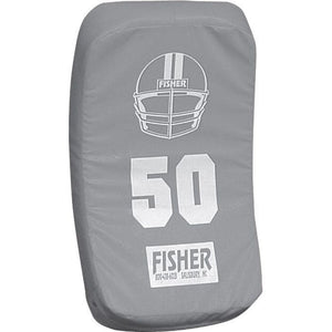 Fisher Athletic Curved Body Shield (HD150)-Football Equipment-Fisher Athletic-Gray-Unique Sports