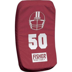 Fisher Athletic Curved Body Shield (HD150)-Football Equipment-Fisher Athletic-Maroon-Unique Sports