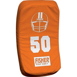 Fisher Athletic Curved Body Shield (HD150)-Football Equipment-Fisher Athletic-Orange-Unique Sports
