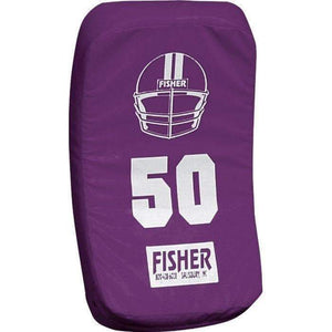 Fisher Athletic Curved Body Shield (HD150)-Football Equipment-Fisher Athletic-Purple-Unique Sports