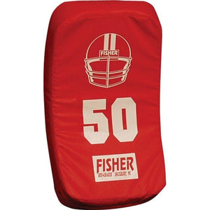 Fisher Athletic Curved Body Shield (HD150)-Football Equipment-Fisher Athletic-Red-Unique Sports