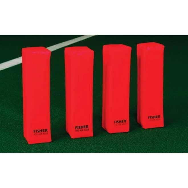Fisher Athletic Deluxe Weighted Football Corner Pylons-Football Equipment-Fisher Athletic-Unique Sports