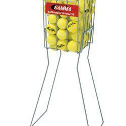 Hi-Rise 75 Ball Hopper By GAMMA-Tennis Equipment-GAMMA-Silver-Unique Sports