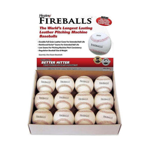 Fireballs Leather Pitching Machine Balls By Heater-Baseball & Softball Equipment-Heater-Unique Sports