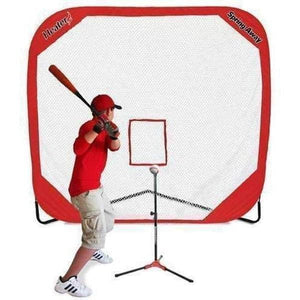 Heater Flop Top Batting Tee & Spring Away 7' x 7' Pop-Up Net-Equipment For The Beginner-Heater-Unique Sports