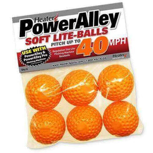 PowerAlley 40 MPH Orange Lite Baseballs-Equipment For The Beginner-Heater-Unique Sports