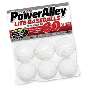 Heater PowerAlley 60 MPH White Lite Baseballs-Equipment For The Beginner-Heater-Unique Sports