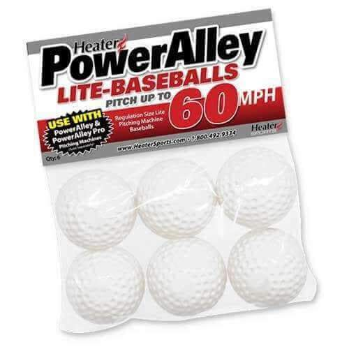Heater PowerAlley 60 MPH White Lite Baseballs