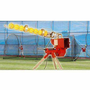 Softball With Auto Ball Feeder & Xtender 24' Cage By Heater Sports-Equipment For The Beginner-Heater-Unique Sports
