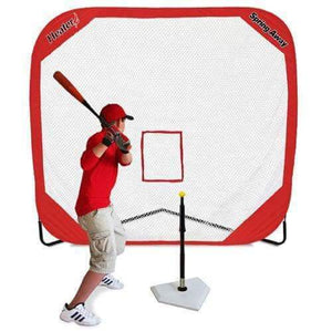 Heater Spring Away Tee & Spring Away 7' x 7' Pop-Up Net-Equipment For The Beginner-Heater-Unique Sports