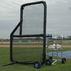 The Kodiak Pro Mini 5'x7.5' Padded L-Screen With #60 Net-Baseball & Softball Equipment-Kodiak Sports-Unique Sports