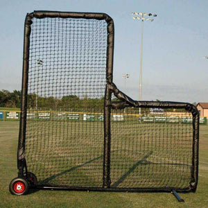 Kodiak Sports 8' X 8' Pro Padded Wheeled L-Screen-Baseball & Softball Equipment-Kodiak Sports-Unique Sports