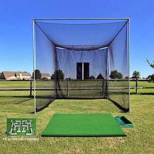 The 'Masters' Series Of Golf Practice Cages By Cimarron-Golf Equipment-Cimarron-Tee Line DIY Golf Cage And Turf Package-Unique Sports