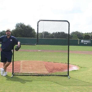 Varsity 7'X7' L-Screen With #36 Netting By Muhl Tech-Baseball & Softball Equipment-Muhl Tech-Unique Sports
