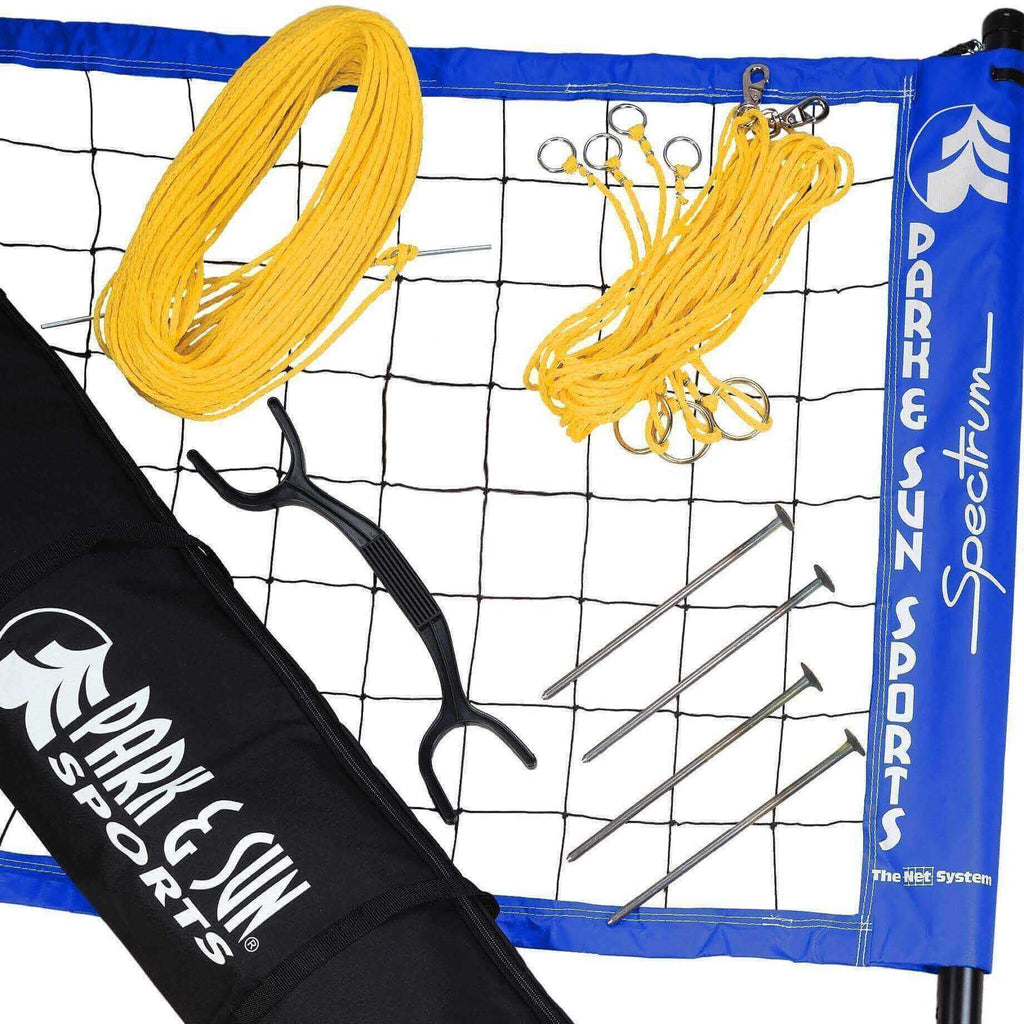 Park & Sun Spectrum 2000 Volleyball Net System-Volleyball Equipment-Park & Sun-Blue-Unique Sports