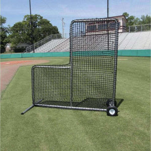 Premier 7'x7' L-Screen With #84 Netting And Wheel Kit-Baseball & Softball Equipment-Cimarron-Without Padding-Unique Sports