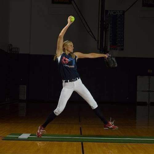ProMounds Jennie Finch Softball Pitching Mat with Powerline