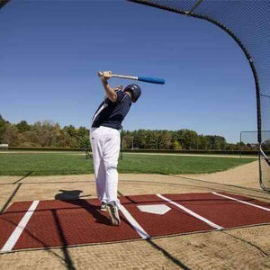 ProMounds Pro Lined Batting Mats-Baseball & Softball Equipment-ProMounds-12' x 6' (Baseball)-Clay-Unique Sports