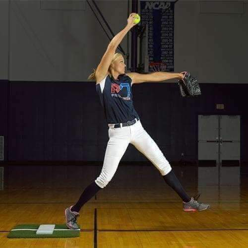 ProMounds Softball Pitching Mini-Mat With Powerline