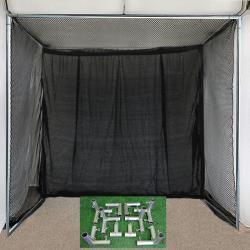 The 'Clubhouse' 5'x10'x10' Cage Netting And DIY Corner Kit-Golf Equipment-Cimarron-Unique Sports