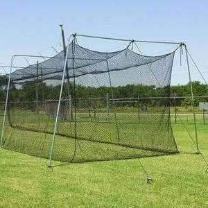 The 'Rookie' 70'x12'x12' Cage With Net And 1.5-Inch Frame-Baseball & Softball Equipment-Cimarron-Unique Sports