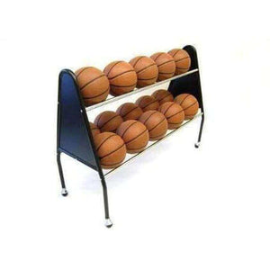 "Trigon Sports International ProCage Ball Carts-Basketball Equipment-Trigon Sports International-2-Tier 15-Ball (51""L x 19""W x 38""H)-Unique Sports"
