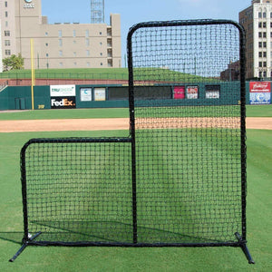 The ProCage 'Black Series' 7-Foot L-Screen With #42 Netting-Baseball & Softball Equipment-Trigon Sports International-Unique Sports